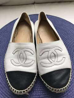 Chanel Leather Espadrilles Shoes Size 40/9