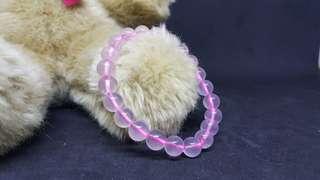 🚚 馬達加斯加粉晶 粉晶 星光粉晶 8mm 手珠