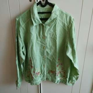 Embroidered Gorgeous Linen Blouse