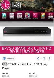 LG Blu Ray DVD