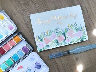 Mother's day calligraphy card