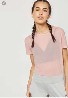 Forever21 Pink Sheer Top