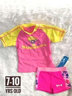 Girl swimwear swimsuit rashguard rash guard set