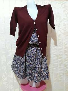 Take all bundle Cardigan & Floral Dress
