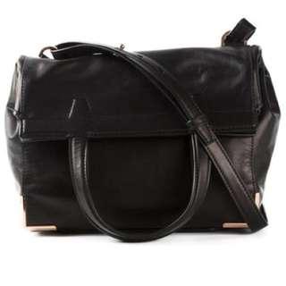 Alexander Wang Black Prisma Fold-Over Shoulder Bag