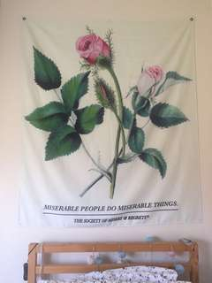 Miserable People Do Miserable Things Tapestry
