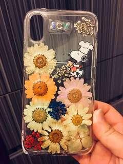 訂造 IPhone X DIY SNOOPY 押花手機殼