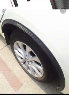 New: 4pcs Car Carbon Fiber Wheel Eyebrow