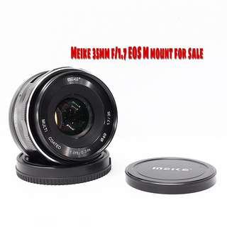 Meike 35mm f/1.7 EOS-M mount for sale