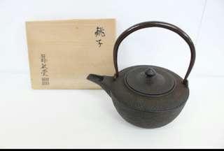 古董鑄鐵茶壼 日本造 龍敏堂