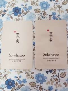 Sulwhasoo | gentle cleansing foam ex (2 samples for $3)