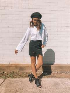 // Sorelle - NEW black denim skirt