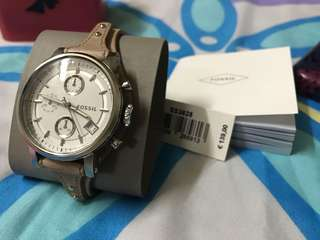 Authentic Fossil Leather 38mm Watch