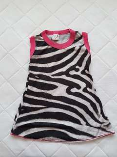 Toddler girl sleeveless shirt / top
