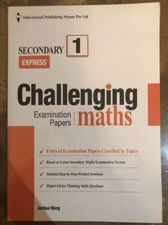 Secondary 1 Challenging Maths Test Papers