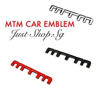 MTM Car Emblem