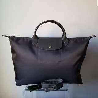 BN LONGCHAMP Neo 2-Way Bag (Large) - Dark Grey