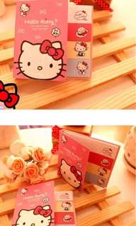 Hello kitty sticky note pad