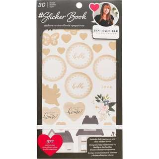 (clearance sale) American crafts sticker with gold foil book jan Hadfield 974 stickers for planners and scrapbooking