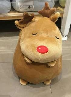 MINISO Round Elk Plush Toy Boneka Bantal Rusa Lucu