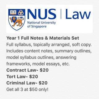 NUS Law Year 1 Notes