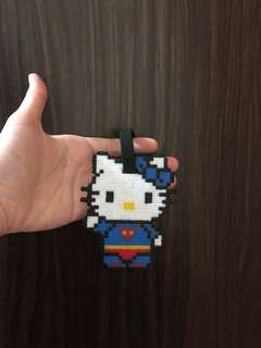 Hello kitty superman luggage tag