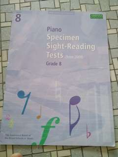 Grade 8 Piano  Books