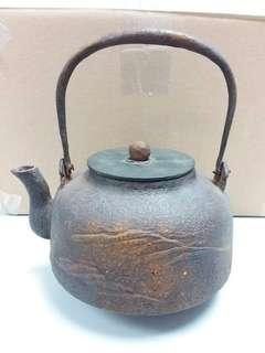 古董鑄鉄水壺  日本造