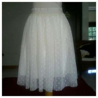 ROK SIXTIES MILAN LONDON PARIS _ NYLON TRANSPARANT MOTIF CREAM GURING KAOS FIT S TO M
