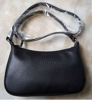 BN LONGCHAMP Le Foulonne Leather 'Mini Hobo' Crossbody/Shoulder Bag