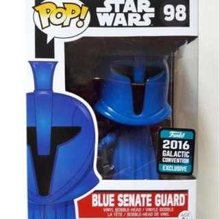 Funko Pop, Star Wars Blue Senate Guard 2016 Galactic Con Exclusive. (MIB)