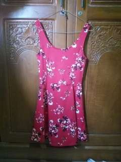 H&M Floral Red Dress
