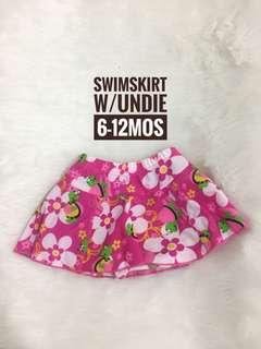 Girl floral swimsuit swimwear skirt