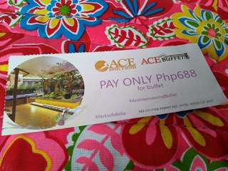 Ace buffet voucher