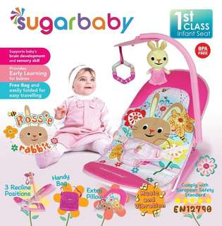 sugar baby bouncer infant seat rossie rabbit
