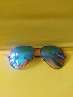 ray ban aviator flash lenses blue mirror rb3025 002/4o 62mm Large size rayban brand new full packages original