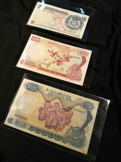 Old sg 3pcs notes 3pc offer $118