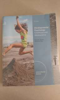 Developmental Psychology - Childhood Adolescence