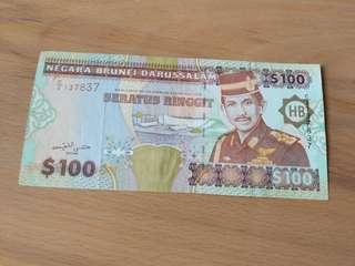 Brunei notes($100)