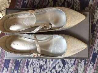 Pedro silver flat shoes