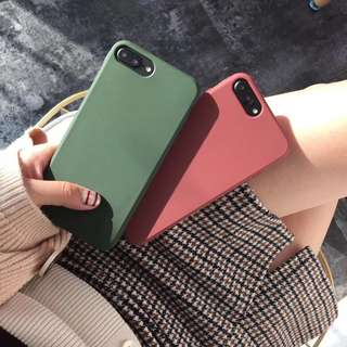 iPhone 7 8 7Plus 8Plus Simple Candy Color Full Soft Matte TPU Silicon Cover Case