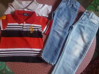 Just jeans with polo shirt bundles for 3-4y/o