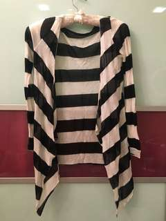 Black & White Stripes Cardigan