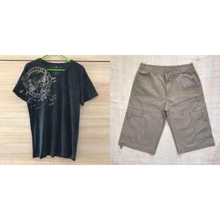 Mix & Match: Marc Ecko Shirt and Gray Shorts