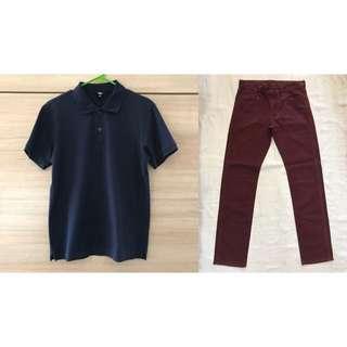 Mix & Match: Uniqlo Polo Shirt and Straight Cut Pants