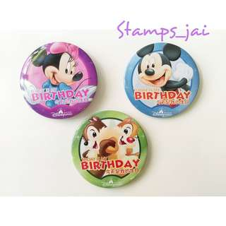 香港迪士尼 生日襟章 米奇老鼠 Mickey Mouse minnie