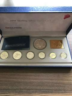 S60 - 1991 Singapore Silver Proof Coin Set