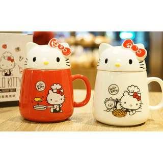 Hello kitty限量馬克杯 紅/白色兩款