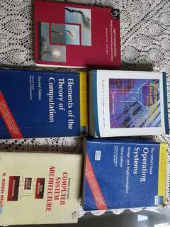 Five textbooks for Computer Engineering