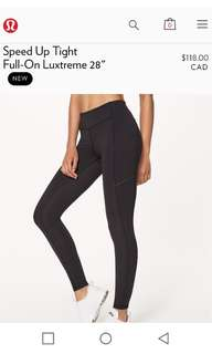 Speed up tight. Lululemon leggings